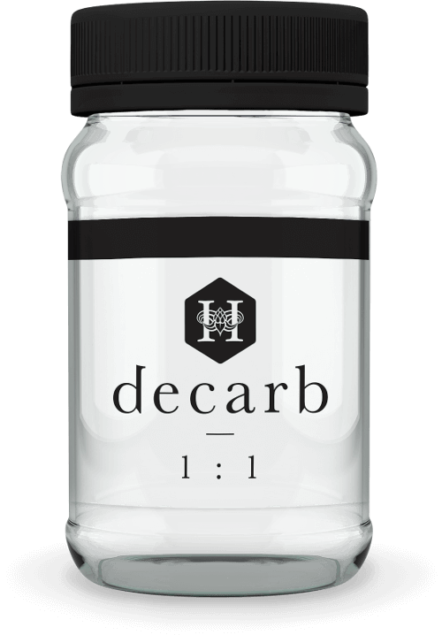Hydropothecary Decarb Milled 1 To 1 Medical Marijuana Jar